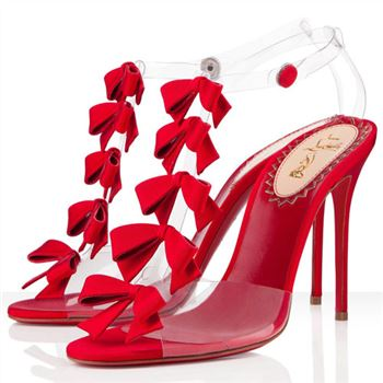 Christian Louboutin Bow Bow 100mm Sandals Red