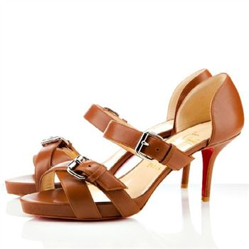 Christian Louboutin Atalanta 80mm Sandals Cognac