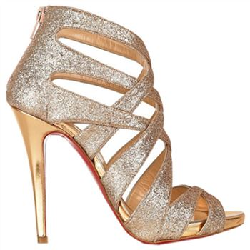 Christian Louboutin Balota 120mm Sandals Gold