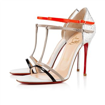 Christian Louboutin Arnold 100mm Sandals Silver