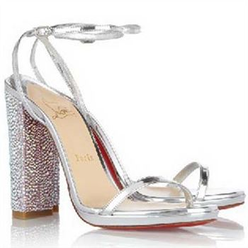 Christian Louboutin Au Palace 120mm Sandals Silver
