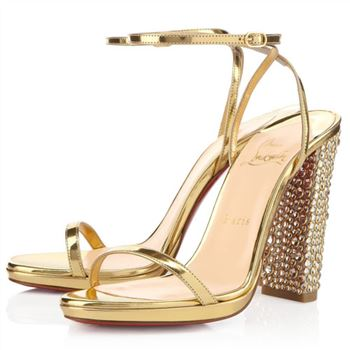 Christian Louboutin Au Palace 120mm Sandals Gold