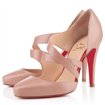 Christian Louboutin Citoyenne 100mm Sandals Nude