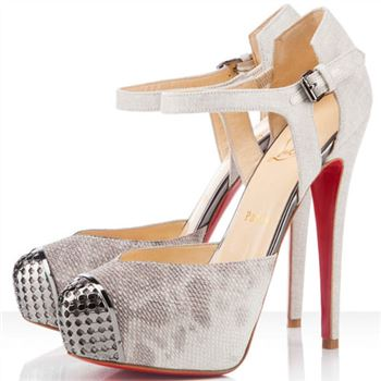Christian Louboutin Boulima Exclusive D'orsay 120mm Sandals Stone