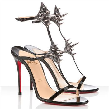 Christian Louboutin Lady Max 100mm Sandals Black
