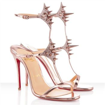 Christian Louboutin Lady Max 100mm Sandals Nude