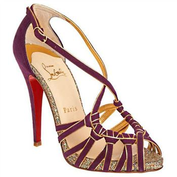 Christian Louboutin Mignons 140mm Sandals Parme