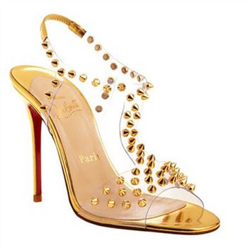 Christian Louboutin J-Lissimo 100mm Sandals Gold