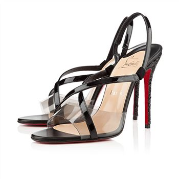 Christian Louboutin Coup De Bleu 100mm Sandals Black