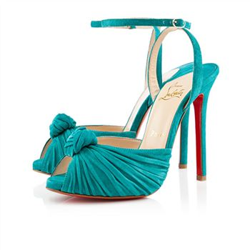 Christian Louboutin Hot Grey 120mm Sandals Caraibes