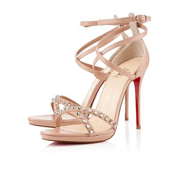 Christian Louboutin Monocronana 120mm Sandals Nude