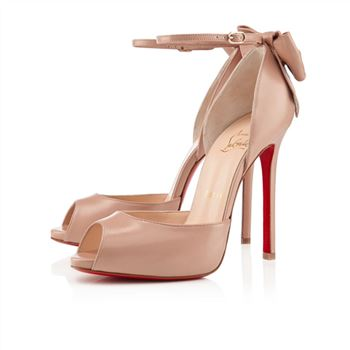 Christian Louboutin Dos Noeud 120mm Sandals Nude