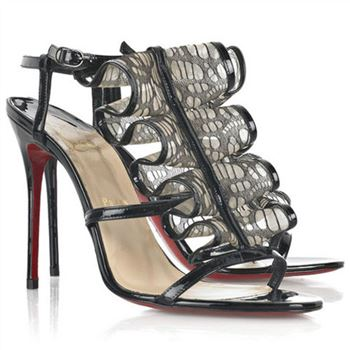 Christian Louboutin Fortitia 100mm Sandals Black