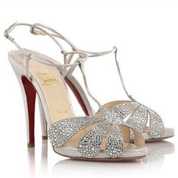 Christian Louboutin Margi Diams 120mm Sandals Silver
