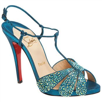 Christian Louboutin Margi Diams 120mm Sandals Turquoise