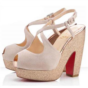 Christian Louboutin Martel 140mm Sandals Nude