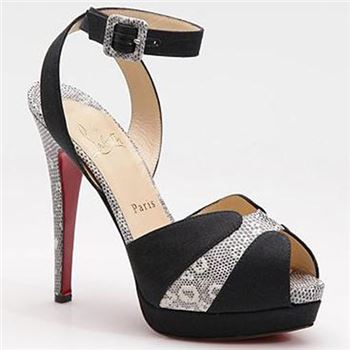 Christian Louboutin Double Moc 120mm Sandals Black