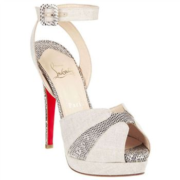 Christian Louboutin Double Moc 120mm Sandals Taupe