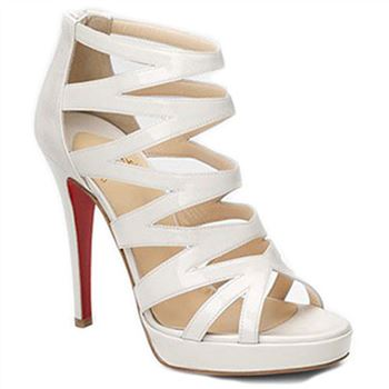 Christian Louboutin Fernando 120mm Sandals White