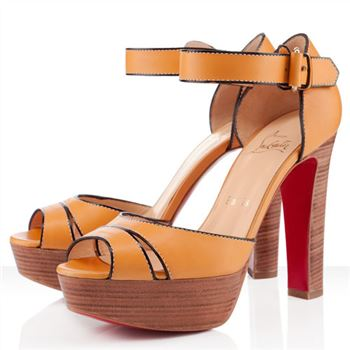 Christian Louboutin Woodaola 120mm Sandals Orange