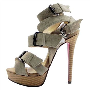 Christian Louboutin Toutenkaboucle 140mm Sandals Taupe