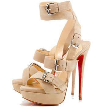Christian Louboutin Toutenkaboucle 140mm Sandals Corde