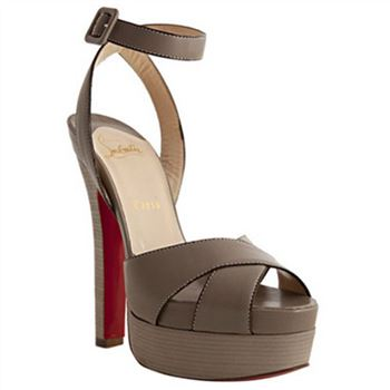 Christian Louboutin Vivaeva 160mm Sandals Taupe