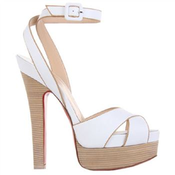 Christian Louboutin Vivaeva 160mm Sandals White