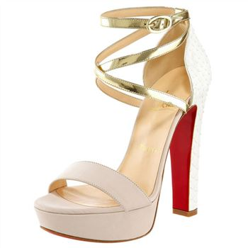 Christian Louboutin Summerissima 140mm Sandals Gold