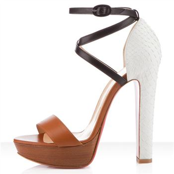 Christian Louboutin Summerissima 140mm Sandals Brown
