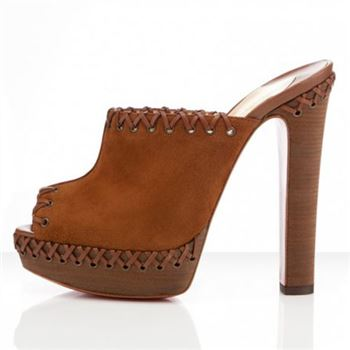 Christian Louboutin Sablina 140mm Sandals Brown