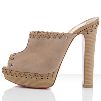 Christian Louboutin Sablina 140mm Sandals Taupe
