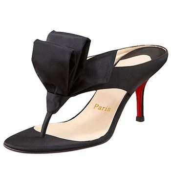 Christian Louboutin Tulp Thong 80mm Sandals Black