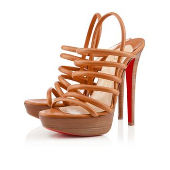 Christian Louboutin Vildo 140mm Sandals Fauve