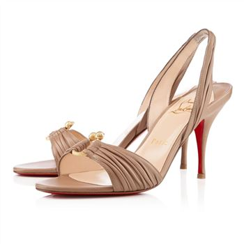 Christian Louboutin Vanestic 80mm Sandals Taupe