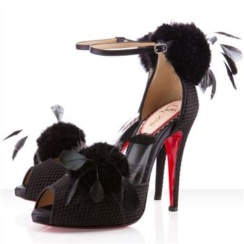Christian Louboutin Pluminette 120mm Sandals Black
