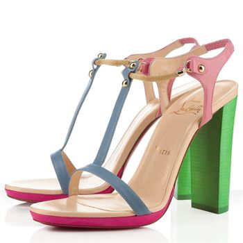 Christian Louboutin Sylvieta 120mm Sandals Green/Gold