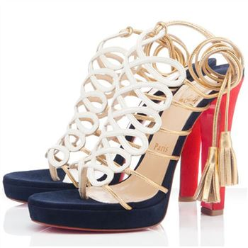 Christian Louboutin Salsbourg 120mm Sandals White