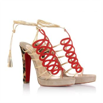 Christian Louboutin Salsbourg 120mm Sandals Taupe