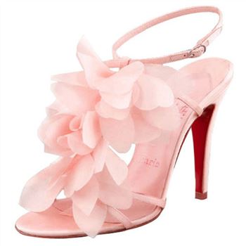 Christian Louboutin Petal 70mm Sandals Pink