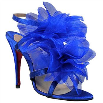 Christian Louboutin Petal 70mm Sandals Blue