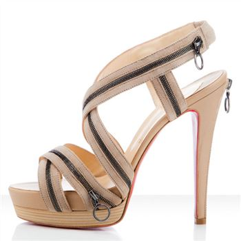 Christian Louboutin Trailer 140mm Sandals Beige