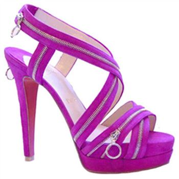 Christian Louboutin Trailer 140mm Sandals Purple