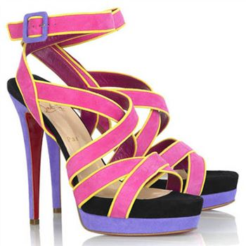 Christian Louboutin Straratata 120mm Sandals Rose Matador