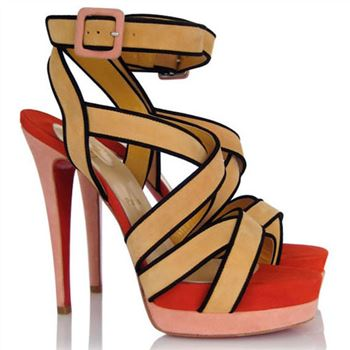 Christian Louboutin Straratata 120mm Sandals Khaki