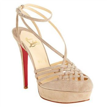 Christian Louboutin Tres Francaise 140mm Sandals Beige