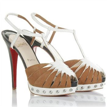 Christian Louboutin Zigounette 140mm Sandals Camel