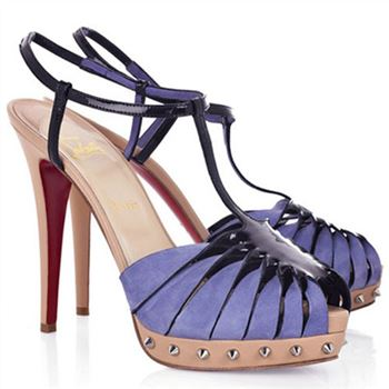Christian Louboutin Zigounette 140mm Sandals Purple