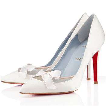 Christian Louboutin Love Me 100mm Special Occasion Off White