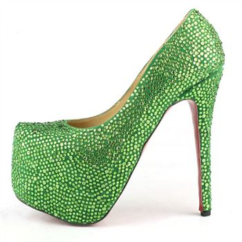 Christian Louboutin Daffodile 160mm Platforms Green